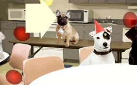 Happy Belated Birthday ecard with dogs