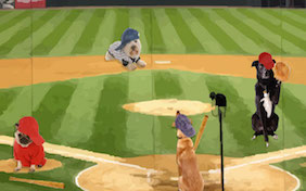Baseball field game