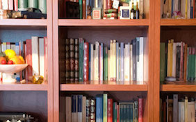 Bookcase inside