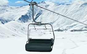 Chairlift ski snow mountain outside