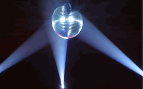 Disco ball party night club