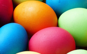 Easter eggs colored