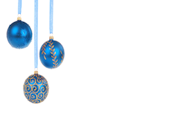 Holiday decorations balls blue hanukkah christmas seasons greetings