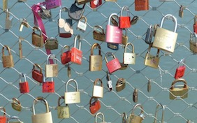 Love locks Paris valentines day