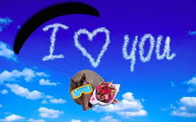 I love you heart clouds sky valentines day
