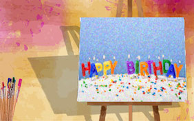 Happy birthday painting