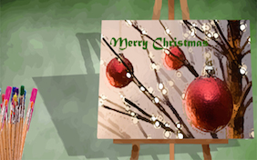 Merry christmas painting