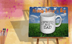 Happy Fathers Day painting
