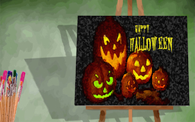 Happy Halloween painting