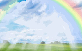 Rainbow bridge outside pet loss