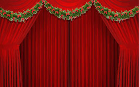 Stage holiday christmas curtain