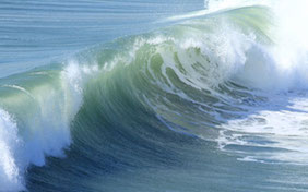 Wave surf ocean water