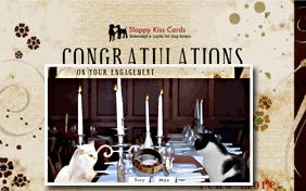 Congrats On Your Engagement ecard with cats