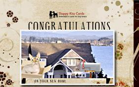 Congratulations On Your New Home ecard with cats