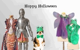 Halloween Costume Ecard With Cats