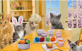 Happy Easter cat ecard