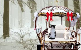 Holiday Romance ecard with Cats