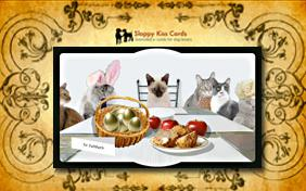 Easter Brunch Invite ecard with cats