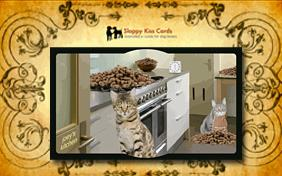 Holiday Invite To Bake Cookies ecard with cats