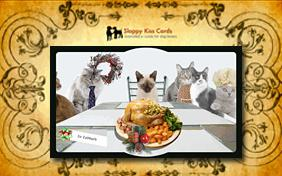Holiday Invite For Dinner ecard with cats