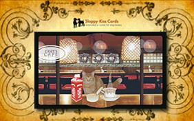 Holiday Invite For Drinks ecard with cats