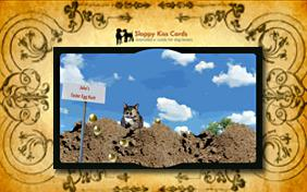 Easter Egg Hunt Invite ecard with cats