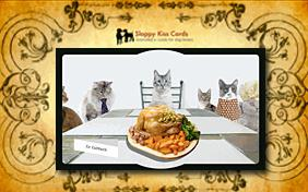 Thanksgiving invitation ecard with Cats