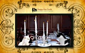 Dinner invitation ecard with cats
