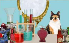Love Potion ecard with cats