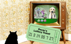 St. Patrick's Day Lucky Lotto cat ecard
