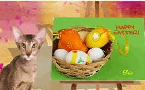 Easter Art cat ecard