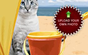 I Love You Photo Upload ecard with cats