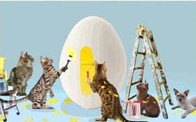 Easter Surprise cat ecard