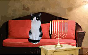 Hanukkah Dos and Dont's ecard with cats