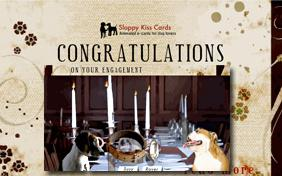 Congrats On Your Engagement ecard with dogs