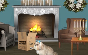 Hanukkah Delivery photo upload dog ecard