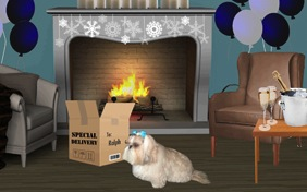 New Year's Delivery photo upload dog ecard