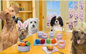 Happy Easter dog ecard