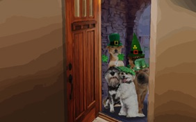 Kiss Me I'm Irish St. Patrick's Day dog ecard