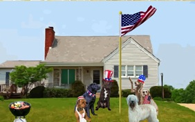 God Bless America dog ecard