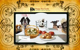Easter Brunch Invite ecard with dogs