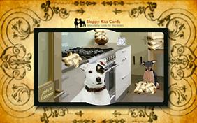Holiday Invite To Bake Cookies ecard with dogs