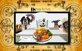 Holiday Invite For Dinner ecard with dogs