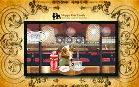 Holiday Invite For Drinks ecard with dogs
