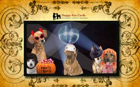 Invite To A Halloween Party ecard with dogs