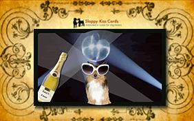 Invite To A Party ecard with dogs