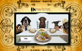 Passover Dinner invitation ecard with dogs