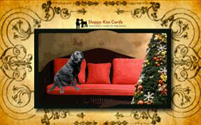 Holiday Invite To Decorate a Tree ecard with dogs