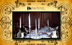 Dinner invitation ecard with dogs