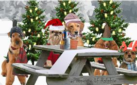 A Christmas Message dog ecard